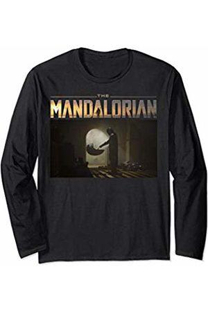 Star Wars The Mandalorian The Child First Meeting Portrait Long Sleeve T-Shirt