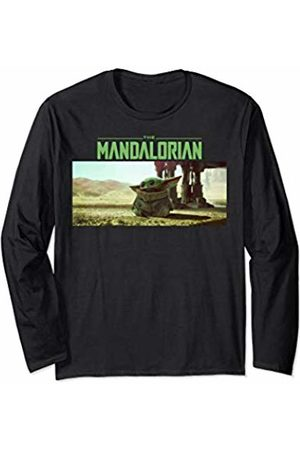STAR WARS The Mandalorian The Child Logo Stare Portrait Long Sleeve T-Shirt