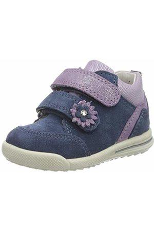 Superfit Baby Girls' Avrile Mini Trainers, (Blau/LILA 80)