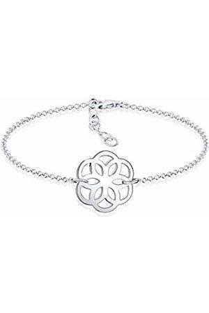 Elli Women 925 Sterling Ornament Flower Bracelet of Length 16cm