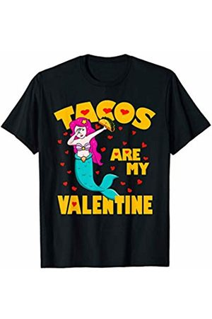 Funny Tacos are My Valentine by TeeIsle Tacos Are My Valentine Dabbing Mermaid Valentines Day Gift T-Shirt