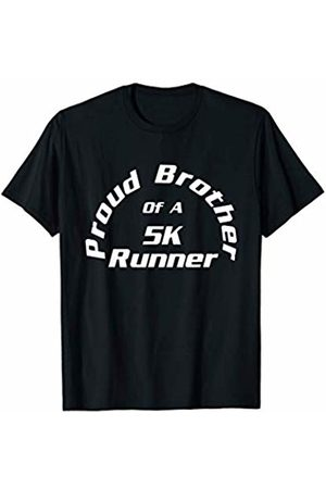 Marathon Gift by KD Proud Brother of 5K Marathon Runner Road Race Gift Sibling T-Shirt