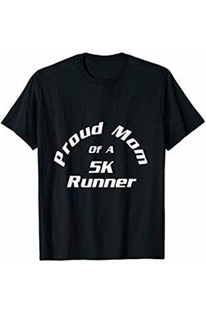 Marathon Gift by KD Proud Mom of 5K Marathon Runner Gift Road Race Running T-Shirt