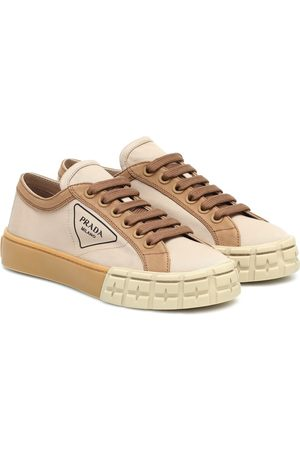 Prada Wheel canvas sneakers
