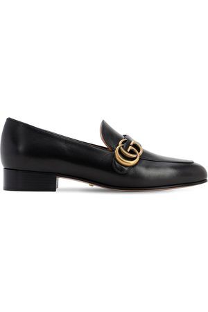 Gucci Women Loafers - 25mm Marmont Leather Loafers