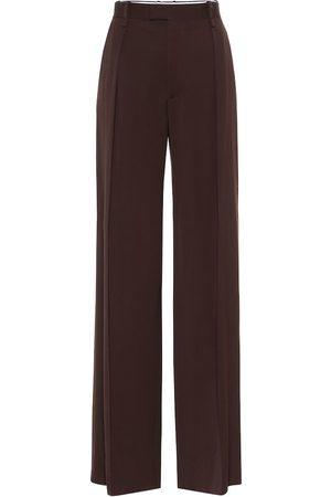 Bottega Veneta Women Wide Leg Trousers - High-rise wide-leg wool pants