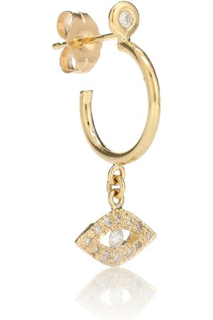 JACQUIE AICHE Women Earrings - Exclusive to Mytheresa – Evil Eye 14kt and diamond earring