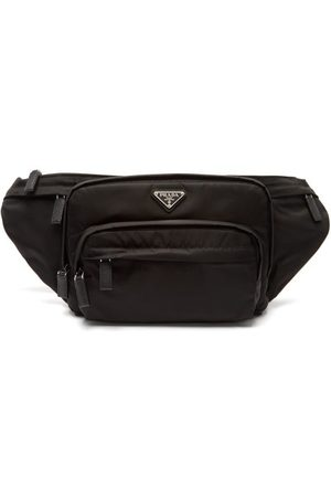 Prada Logo-plaque Nylon Belt Bag - Mens