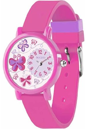 Tikkers Children's Quartz Watch with Dial Analogue Display and Silicone Strap TK0074