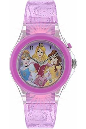 Disney Princess Girls Analogue Classic Quartz Watch with Rubber Strap PN3015