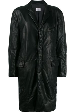 Giorgio Armani Pre-Owned 1990's crinkled effect coat