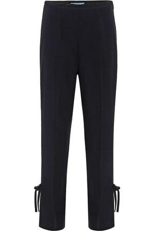 Prada High-rise crêpe pants