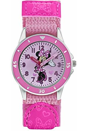 Disney Minnie Mouse Girls Analogue Classic Quartz Watch with Textile Strap MN5106