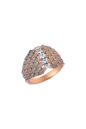 Milka 14ct Rose Gold Cage Pinky Ring