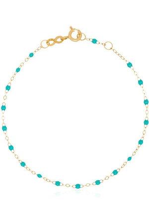 GIGI CLOZEAU 18kt yellow gold turquoise bead bracelet - 33