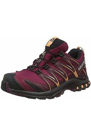 SALOMON Women's Trail Running Shoes, XA PRO 3D GTX W, Colour: Burgundy (Rhododendron/Winetasting/Cantaloupe)