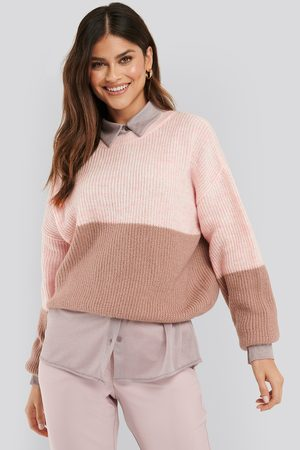 NA-KD Color Blocked Knitted Sweater - Multicolor
