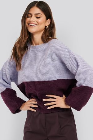 NA-KD Women Jumpers - Color Blocked Knitted Sweater - Multicolor