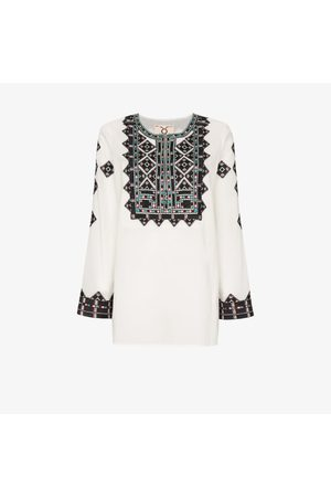 FIGUE Iris embroidered cotton tunic top