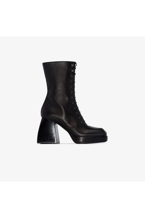 NODALETO Bulla 85 lace-up leather boots
