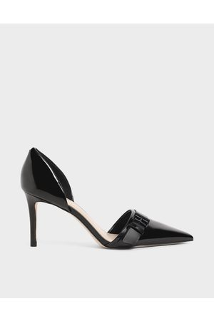 Charles & Keith Patent Buckled D'Orsay Court Shoes