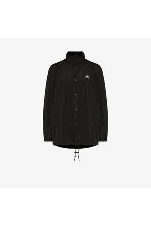 Balenciaga Oversized hooded logo jacket