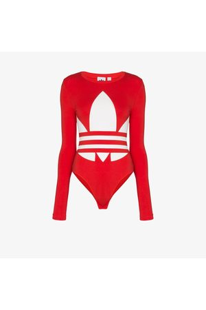 adidas Large logo print cotton bodysuit