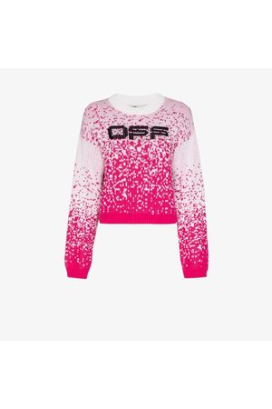 OFF-WHITE Speckled effect knitted jumper
