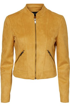 Vero Moda Women Leather Jackets - Short Faux Suede Jacket Women