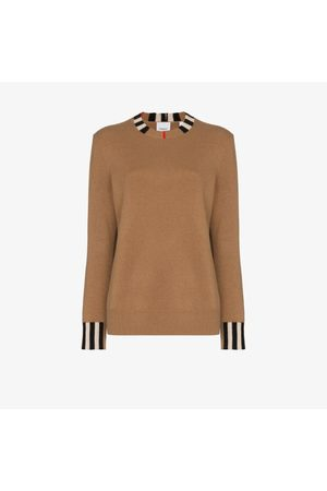 Burberry Icon stripe trim jumper