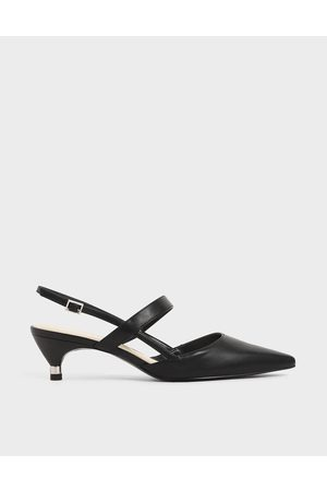 CHARLES & KEITH Slingback Kitten Heel Court Shoes
