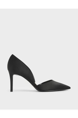 CHARLES & KEITH Satin Pointed D'Orsay Court Shoes