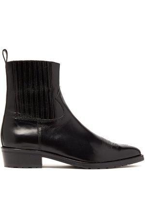 TOGA VIRILIS Topstitched Leather Chelsea Boots - Mens