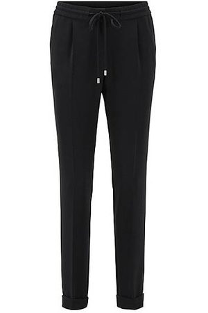 HUGO BOSS Relaxed-fit cropped trousers in stretch crepe