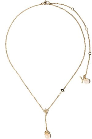 Yoko London 18kt yellow gold Trend freshwater pearl and diamond necklace - 6