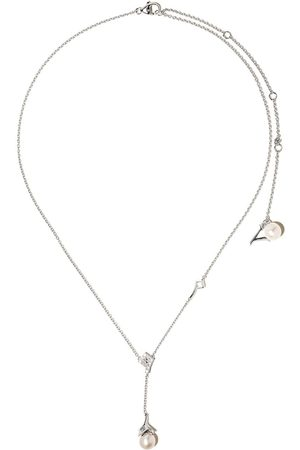 Yoko London 18kt white gold Trend freshwater pearl and diamond necklace - 7