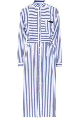 Prada Striped cotton shirt dress