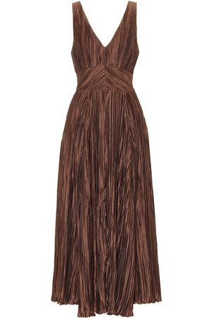 Cult Gaia Angela ruched satin maxi dress