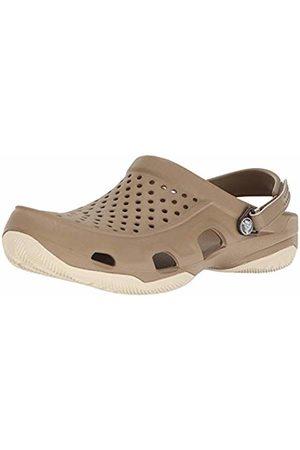 Crocs Men's Swiftwater Deck Clog, (Khaki/Stucco)