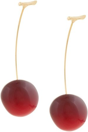 E.M. Cherry pierced earrings
