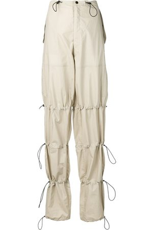 Unravel Project Drawstring utility trousers - Neutrals