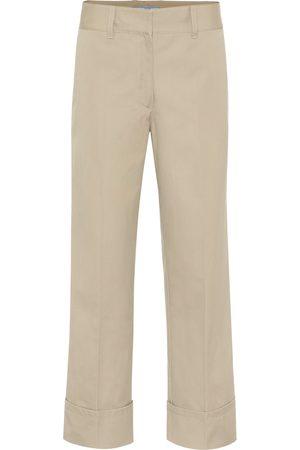 Prada High-rise straight cotton pants