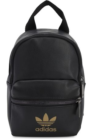 adidas Mini Logo Faux Leather Backpack