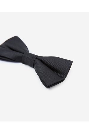 The Kooples Men Bow Ties - Plain black bow tie in silk