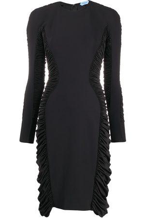 MUGLER Ruched panel dress