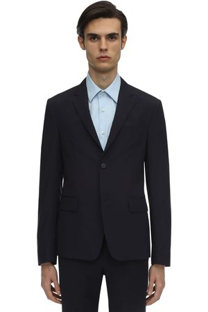 Prada Men Coats - Virgin Wool Blend 150 Travel Jacket