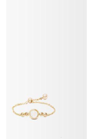 Anissa Kermiche June Diamond, Moonstone & Gold Chain Ring - Womens - Multi