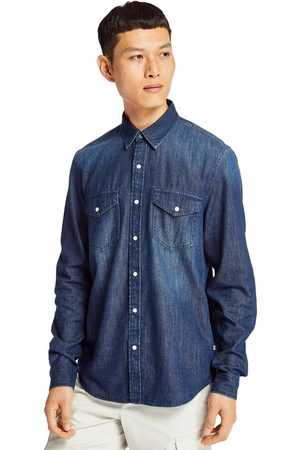 Timberland Mumford river denim shirt for men in indigo indigo, size l