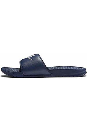 Nike Men Sandals - Men's Benassi Just Do It Slides, (Midnight Navy/Windchill)