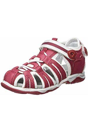 Kickers Unisex Kids' Kawa Closed Toe Sandals, (Rose Blanc 132)